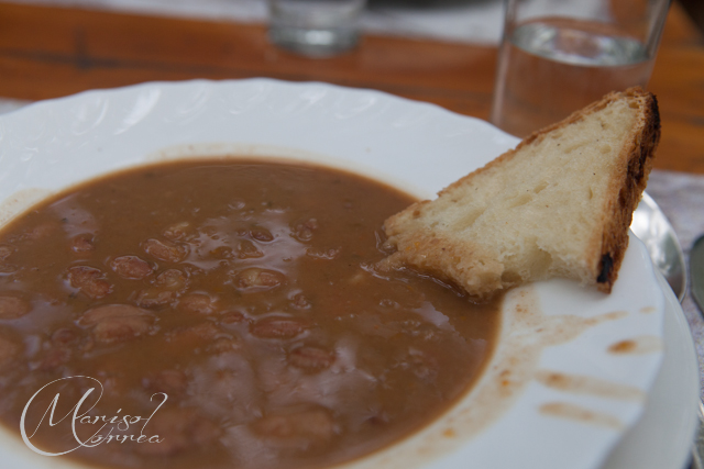 Bean soup, Omiš