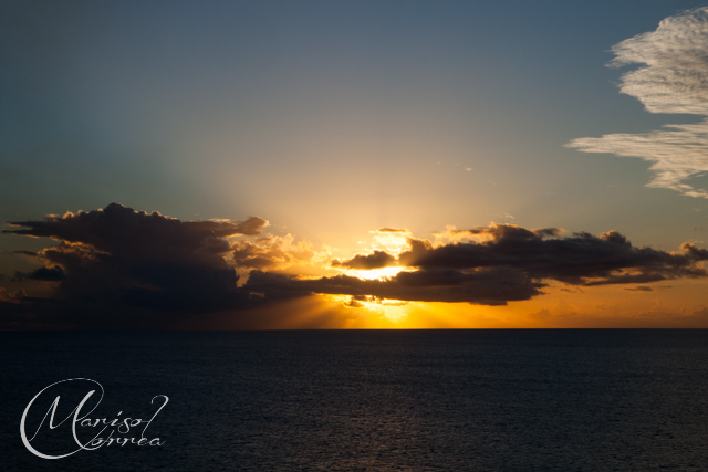 Sunset in St Kitts