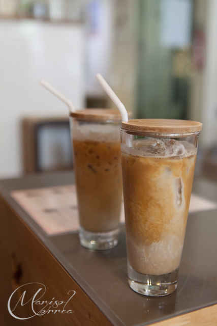 Our iced lattes