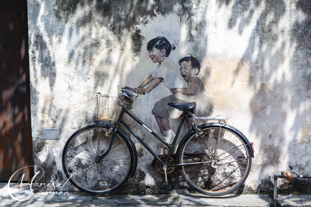 """Little Children on a Bicycle'"" by Ernest Zacharevic"