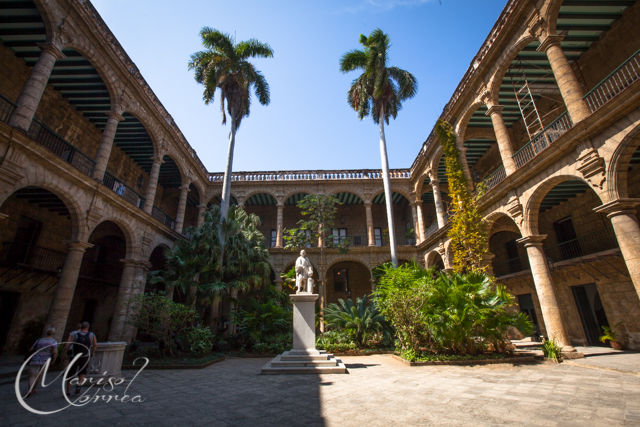 The Palacio de los Capitanes Generales is the former official residence of the governors (Captains General) of Havana, Cuba.